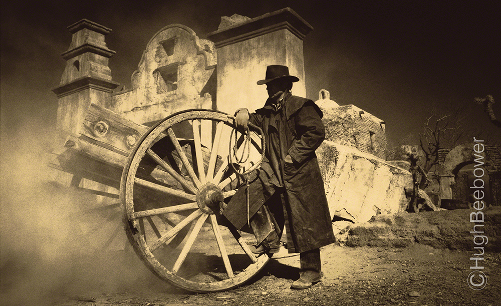 Cowboy in Adobe Ruins | Beebower Productions